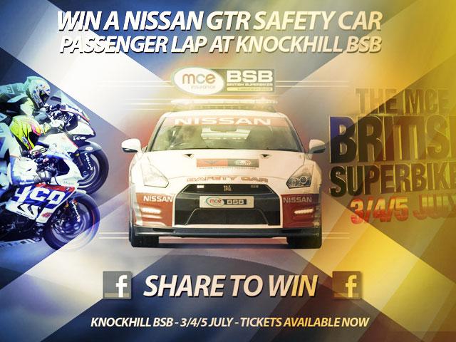 A win a BSB NIssan GTR passenger ride