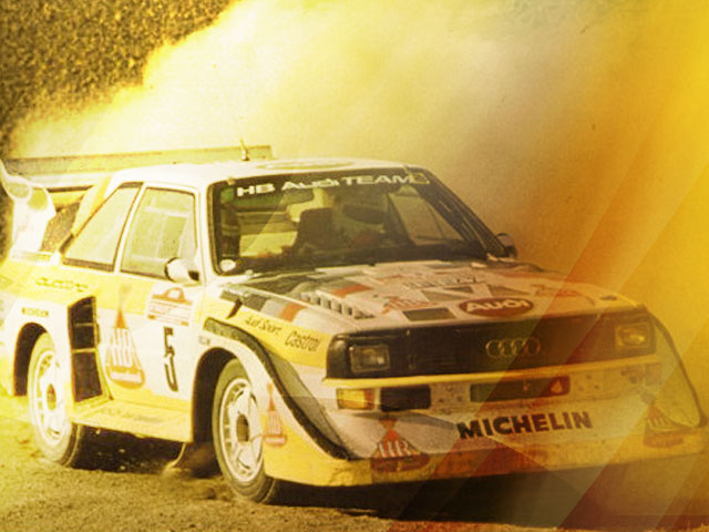 Win a passenger ride with Mikkola in the Audi Quattro
