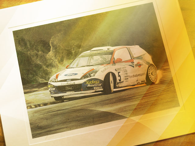 Artist in residence at McRae Rally Challenge