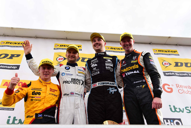 Tom Ingram takes victory in Knockhill finale