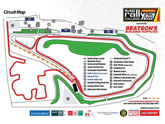 Circuit Map and Camping Info
