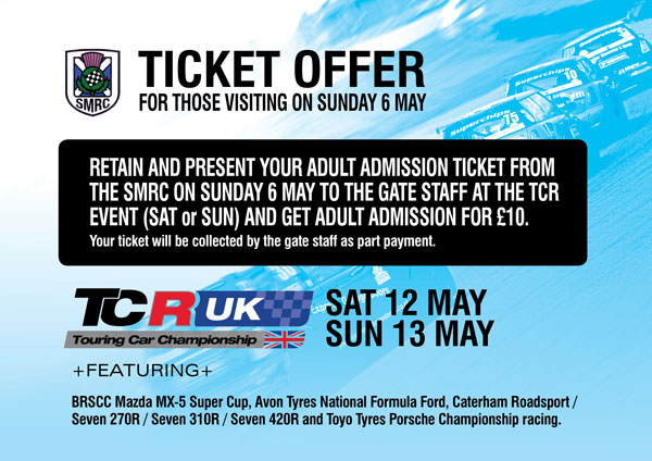 SMRC & TCR Ticket Offer