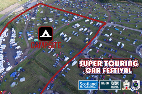 Free camping available at The David Leslie Super Touring Car Festival