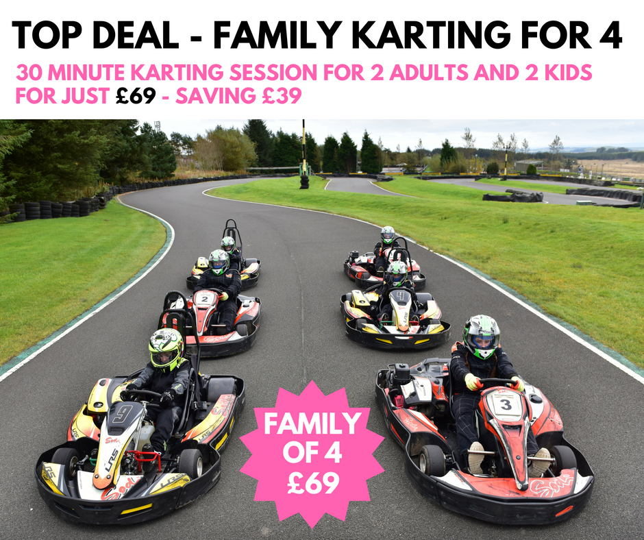 Family Karting for 4 - 30 minutes