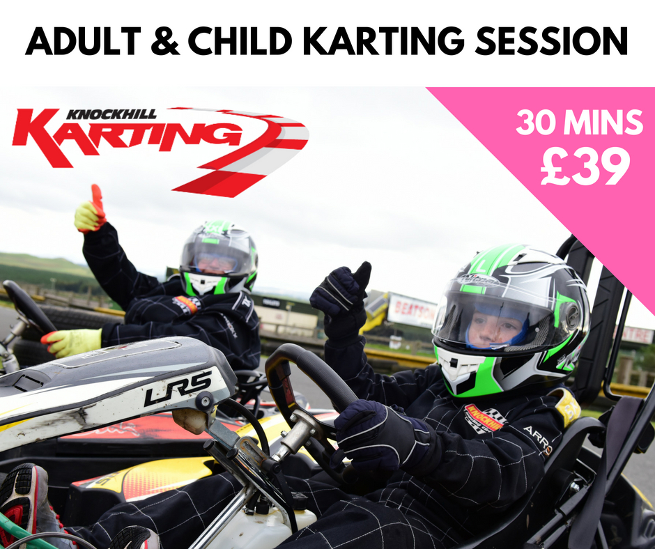 30 mins of Karting for 1 Adult & 1 Child