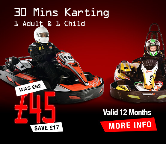 1 Adult & 1 Child 30 mins Karting