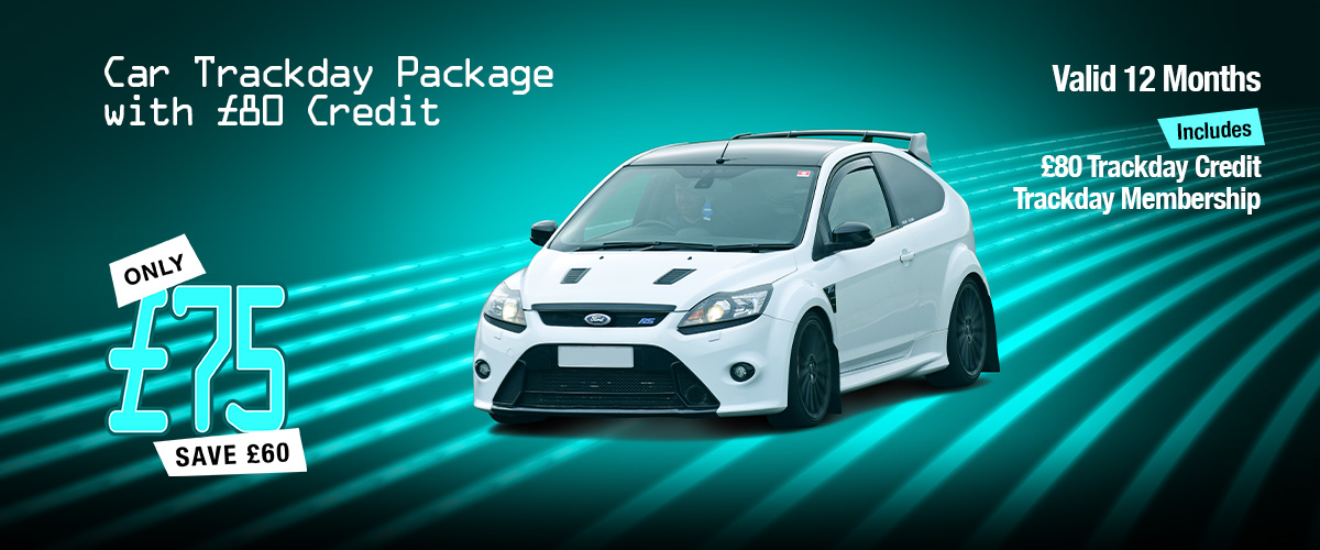 Car Trackday Package with £80 Credit