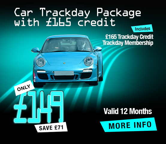 Car Trackday Package with £165 Credit