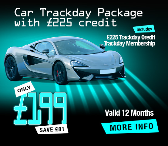 Car Trackday Package with £225 Credit