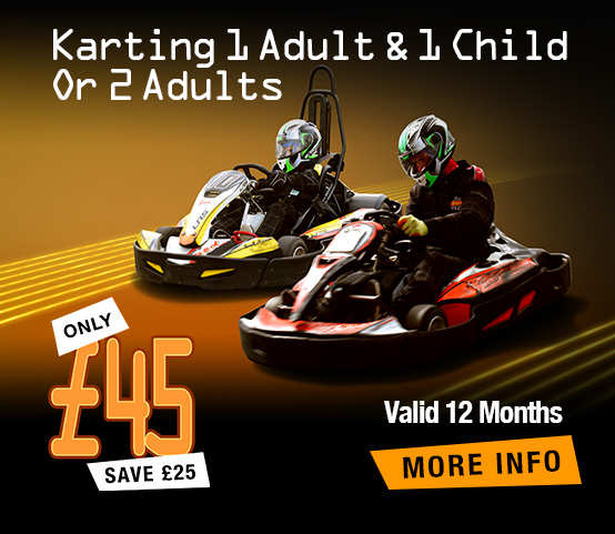 Karting for 1 Adult & 1 Child 'or' 2 Adults