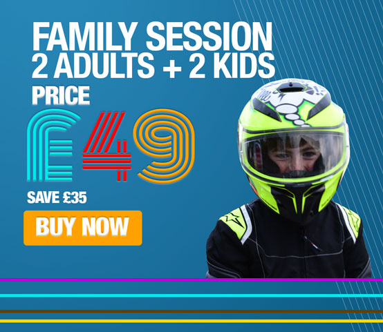 Family Karting 2 Adults & 2 Kids 20mins
