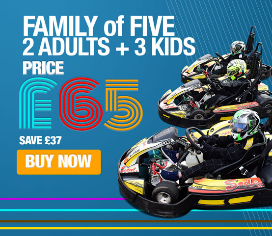 Family Karting 2 Adults & 3 Kids 20mins