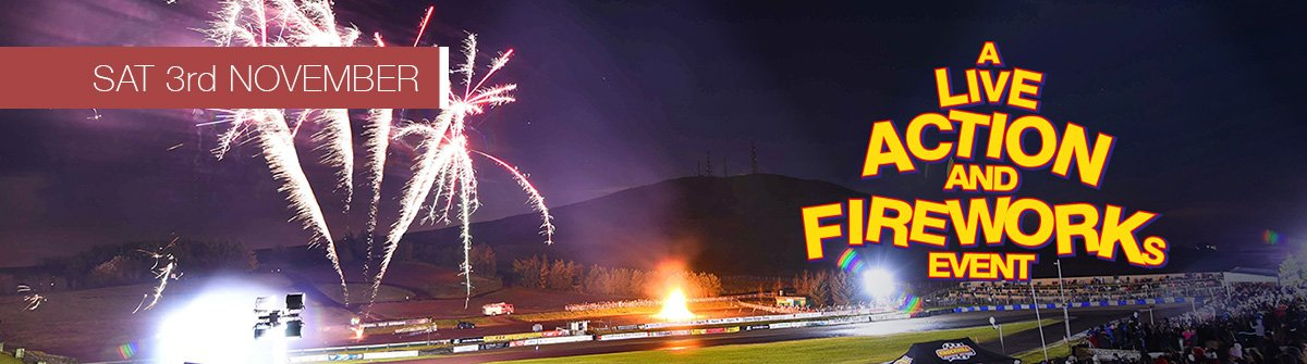 Live Action and Fireworks at Knockhill
