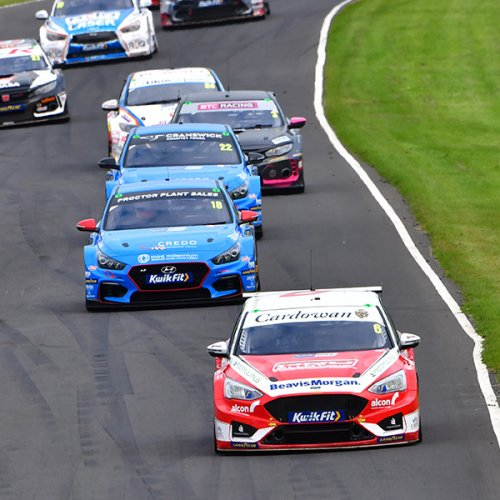 begin Car racing with the SMRC at Knockhill