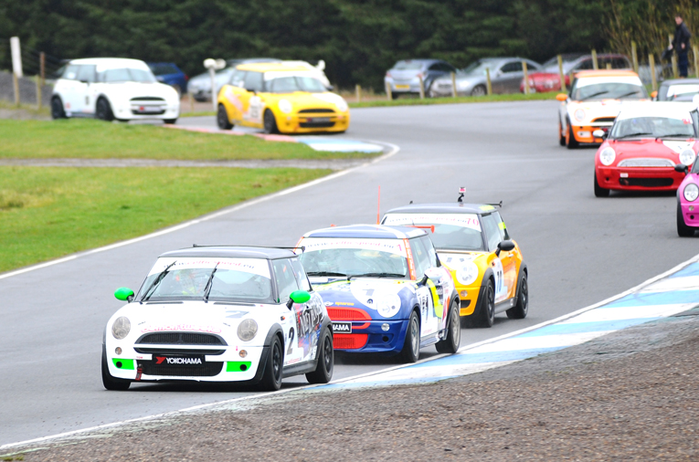 Tanner and Thirlwall out front in the Celtic Speed Mini Cooper Cup