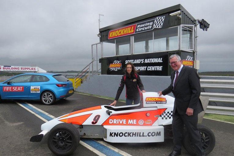 Fergus Ewing MSP with Knockhill Managing Directot Jillian Shedden today.