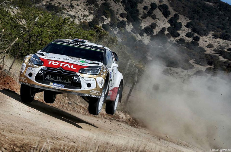 Meeke in WRC action for Citroen Racing